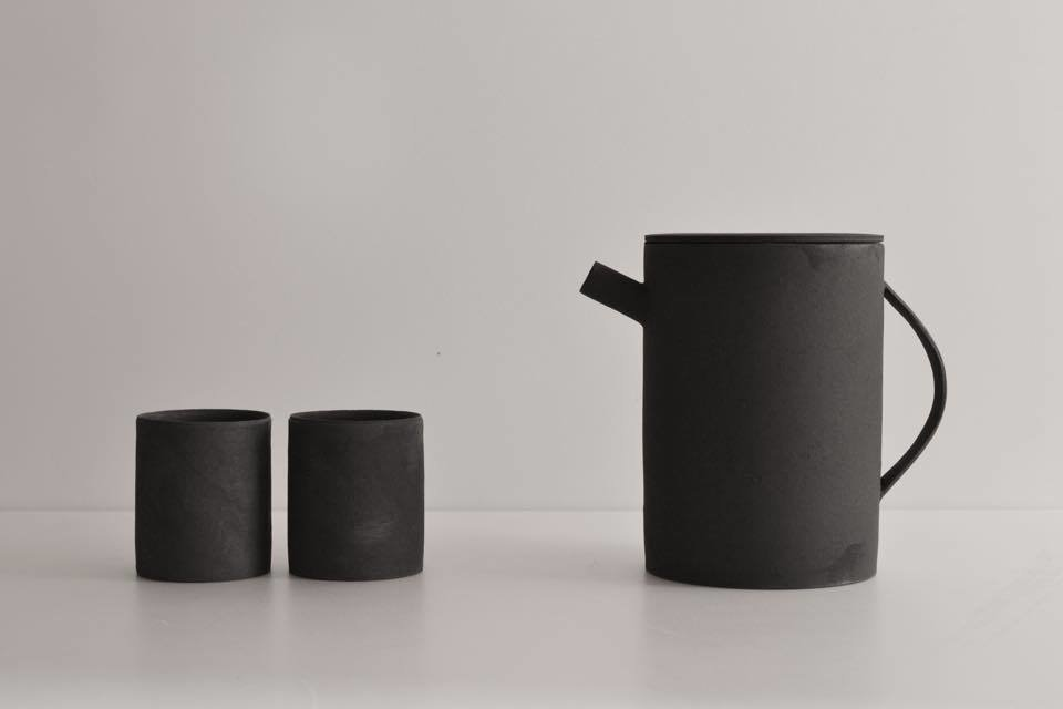 Custom coffee and tea service set made by Kanagawa-based ceramic artist, Takashi Endoh